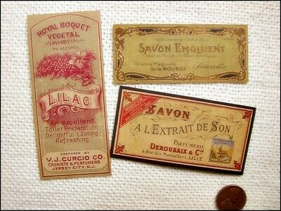15 Vintage look FRENCH PERFUME LABELS Victorian/Paris/Apothecary/Primitive
