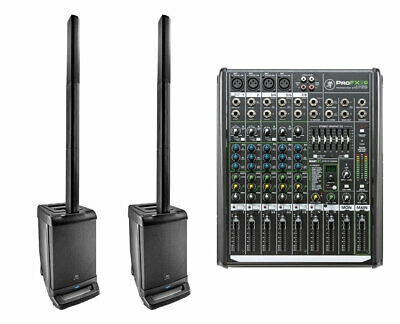 2x JBL EON ONE Linear Array P/A Speaker + Mackie ProFX8 V2 8-Channel Mixer