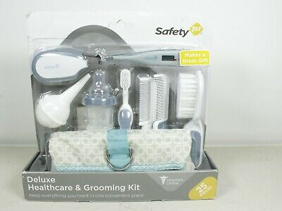 Deluxe Wrapping Clutch Case Healthcare & Grooming Kit Travel Set Zipper Bag Blue
