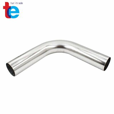 2.5 2FT 63mm 90 Degree T-304 Stainless Steel Exhaust Tube Pipe Piping Tubing