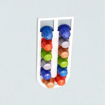 Wall Mouted Adhesive White Capsules Coffee Pod Holder Stand Storage Rack