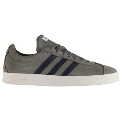 Details about Mens adidas VL Court Nubuck Sneakers Suede Trainers Lace Up Stripe New