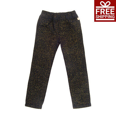 BILLIEBLUSH Velour Trousers Size 5Y Stretch Shiny Spotted Elasticated Waist