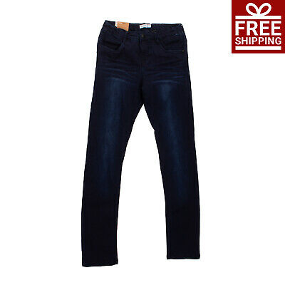 NAME IT Jeans Size 13Y / 158CM Power Stretch Faded Effect Zip Fly Tight Fit