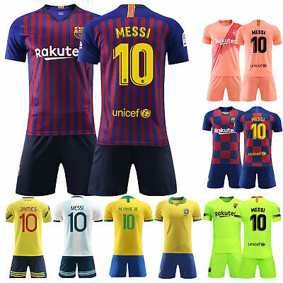 19/20 Football Full Kit Kids Boys Jersey Strips Youth Soccer Outfits Sets+Socks