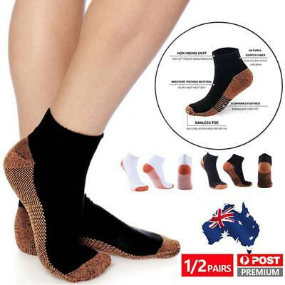 Copper Compression Socks Medical Foot Sleeve Support Anti Fatigue Arthritis Sore