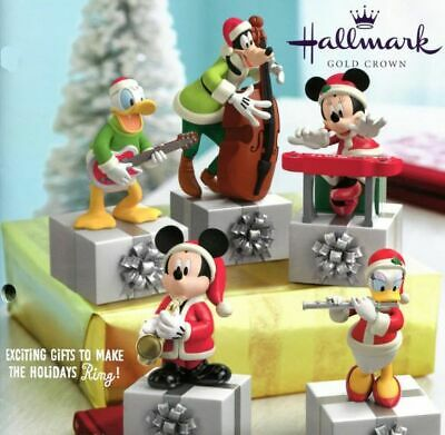 Hallmark Disney Mickey Mouse & Friends Xmas Band - Complete Set Of 5 *Brand New*