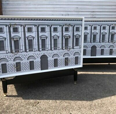 vintage retro chest of drawers Fornasetti Style 1950s 60s Heals italian buffet