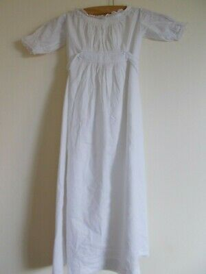 Antique  White Cotton Baby Gown