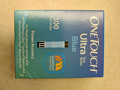 OneTouch Ultra Blue Test Strips 100 Count Box  exp. 04-30-2021