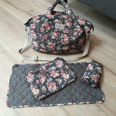 Cath Kidston Wells Rose Quilted Nappy Bag wt bottle holder,  change mat
