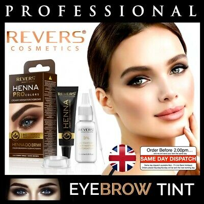 Professional EYEBROW HENNA Brow Kit Eyelash TINT Dye Cream 15 Applications 15ml