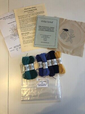 CREWEL WORK COMPANY KIT, WOOL WORK, Heartsease Pansy