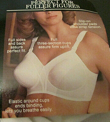 VTG Sears 54646 BULLET Full Figure Bra 42D Pointy Retro 3-Section Cup Wide Panel