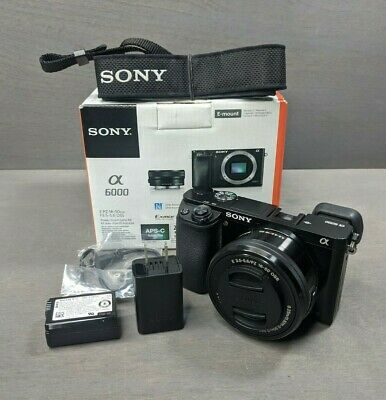 Sony Alpha A6000 24.3MP Digital Camera with 16-50mm Lens - 2K Clicks!