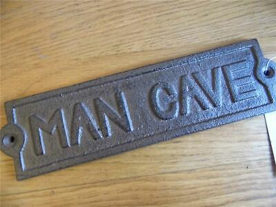 Large Cast Iron Vintage Antique Sign Man Cave Shed Garage Study Wall Plaque Fab