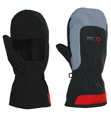 Gloves with Shaft / Gray Red - Softshell - Sizes: 2 - 10 Years - Thermo Run