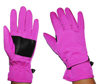 Gloves Softshell - Pink Pink - Thermal Lined with Fleece - Thin Th
