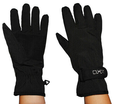 Gloves Softshell - Black - Thermal Lined with Fleece - Thin Ther