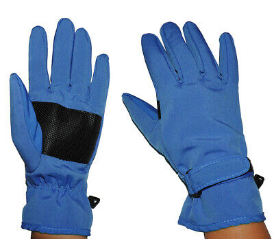 Gloves Softshell - Azure Blue - Thermal Lined with Fleece - Thin Th