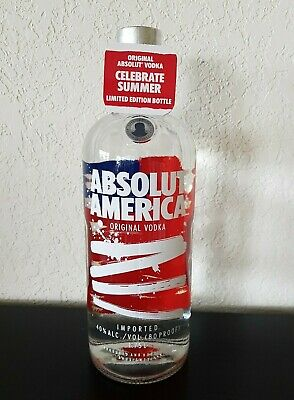 ABSOLUT AMERICA Vodka Flag Limited Edition Collectors Bottle 1.75L + Tag NEW