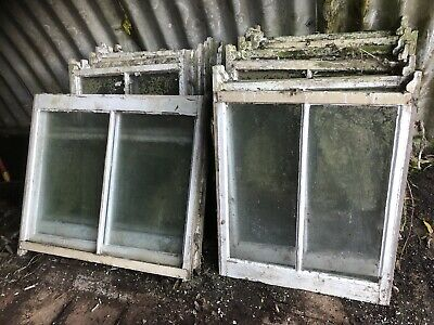 Sash windows single glazed from bay Edwardian/Victorian window