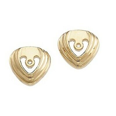 Earring jackets deco style 18k 14k or 10k yellow or white gold your choice