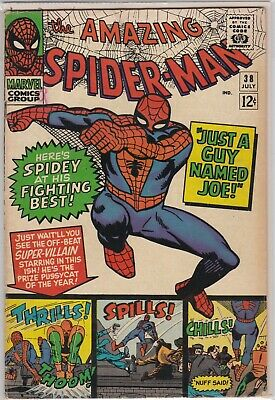 "The Amazing Spider-man #38 ""Just A Guy Named Joe!"" Solid VG+"