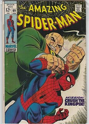 "Amazing Spider-Man #69 - 1969 - Vg/F - ""Crush The Kingpin"""