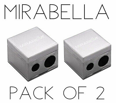 Mirabella Pencil Sharpener (Pack of 2) Dual Large & Small Pencils FREE SHIP FAST