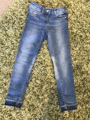 Girls - Blue - Next - Jeans - Age 7 - With Adjustable Waist