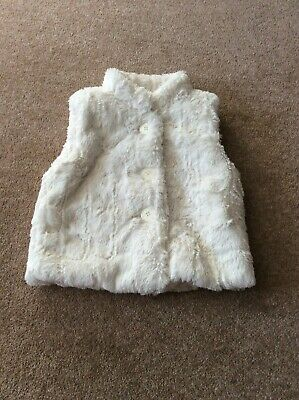 Marks & Spencer Autograph Girls Fake Fur Gilet (Age 2-3 Yrs) Excellent
