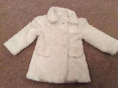 Marks & Spencers Autograph Girls Double Breasted Fake Fur Coat (1.5-2 Yrs)