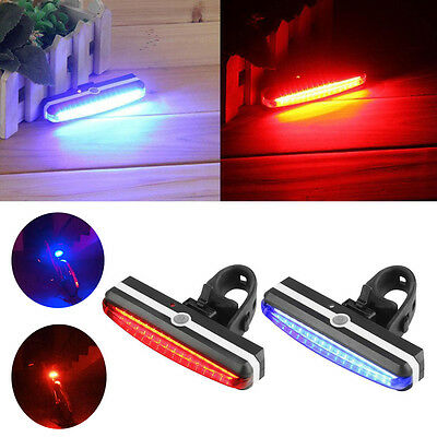 USB Rechargeable LED Bike Bicycle Cycling Front Rear Tail Light Headlight Lamp D