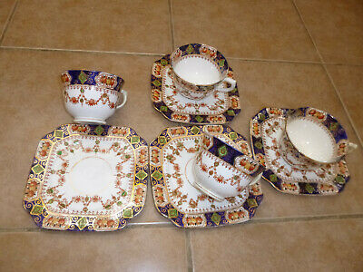 Antique St Michael China 4 cups  4 plates Tea /Coffee Pattern 2586 England