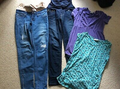Bundle Of Size 8 Small Maternity Clothes Jeans Tops Jeans West Times Two Ripe