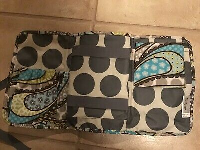 Thirty One Fold and Go Organizer Blue Floral Paisley EXC