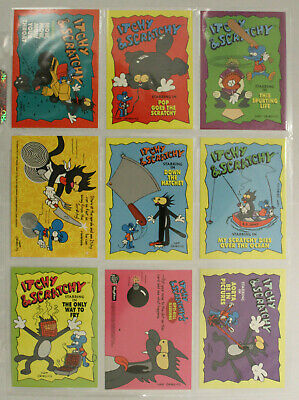 The Simpsons Skybox ITCHY & SCRATCHY Trading Cards 1994 FULL SET