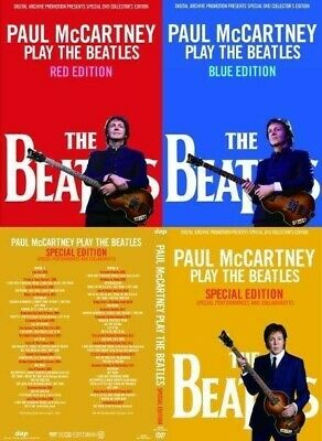 Paul Mccartney Play The Beatles Red & Blue & Special Edition 4 Dvd Let It Be