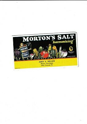 Morton's Salt......great Blotter...illustrated With Vegtables.
