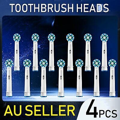 4Pcs New Oral B Electric Replacement Toothbrush Heads For Braun Precision Clean