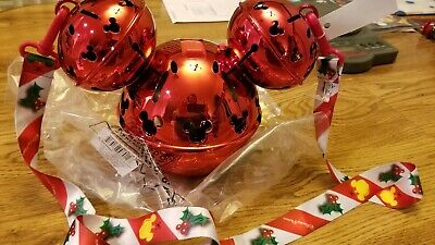 Disney Theme Parks 2019 Red Jingle Bell Mickey Mouse Inspired Ornament Sipper