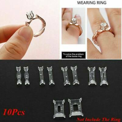 10 x Ring Size Adjuster Invisible Resizer Reducer Set Jewelry Perfect Fit Kit YK