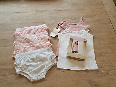 Pink And White Ruffle Bum Nappy Covers Size 2 (VGUC), Organic Cotton Singlets