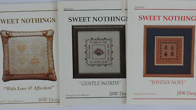 'With Love & Affection','Gentle Words', 'Joyeux Noel' 3 cross stitch JBW charts