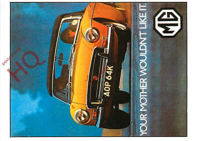 Picture Postcard- MG CARS, MGB ROADSTER, 1971 (REPRO)