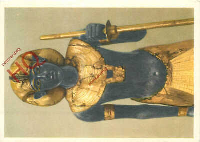 Picture Postcard- Treasures Of Tutankhamun, Life-Sized Statue Of The King