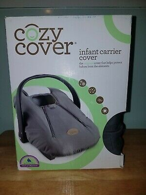 Cozy Cover Infant Car Seat Carrier Cover - gray OPEN BOX