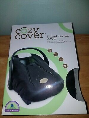Cozy Cover Infant Car Seat Carrier Cover - Black OPEN BOX