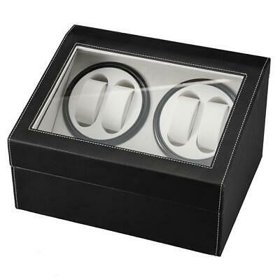 Automatic Rotation 4+6 PU Leather Watch Winder Storage SDisplay Case Show Box US